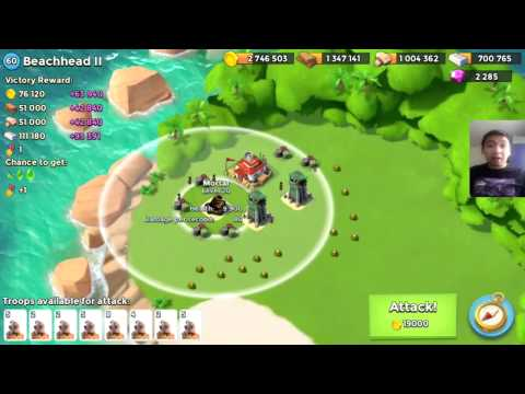 Boom Beach EASY CRYSTALS '' RARE And Special NPC Base '' [ Beachhead ll ] [Patched and Fixed]