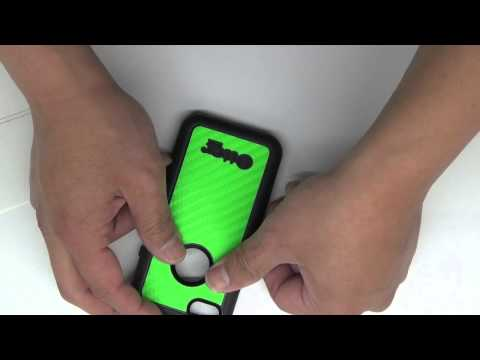 Otterbox iPhone 5c Green Carbon Fiber Install Video by Stickerboy