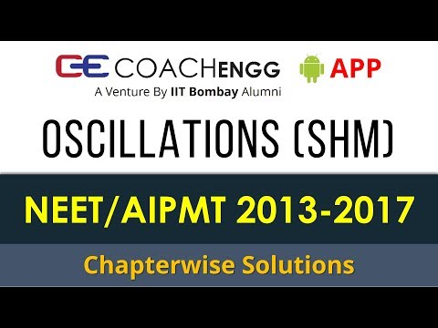 NEET Problems   Oscillations (SHM)   2013 to 2017   Chapterwise Solutions by Rohit Dahiya