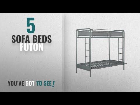 Top 10 Sofa Beds Futon [2018]: DHP Rockstar Metal Bunk Bed, Twin-Over-Futon - Silver