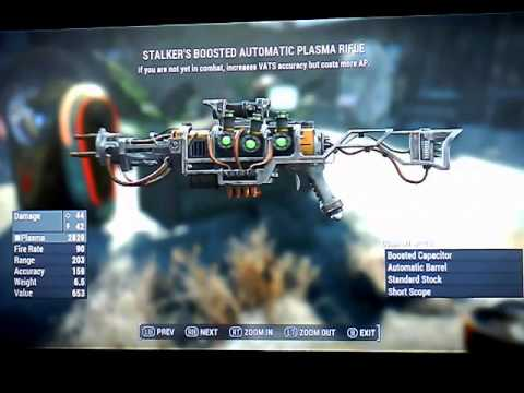 Fallout 4 Legendary Plasma Rifles and can be made a Plasma Thrower Xbox 1 NO mods