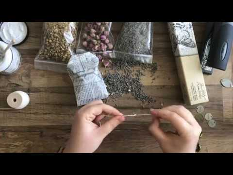 DIY Lavender, Rose, and Chamomile Tea Bag Sachets by Stampington & Company