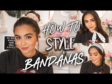 10 WAYS TO STYLE BANDANAS + HAIR SCARVES ♡