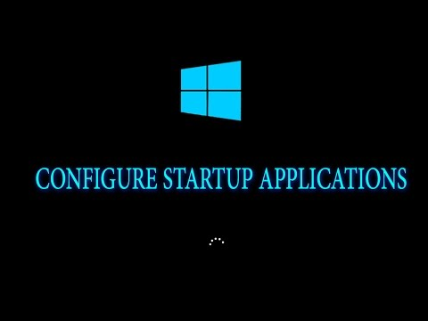How to configure(start/stop) startup software or applications in windows?