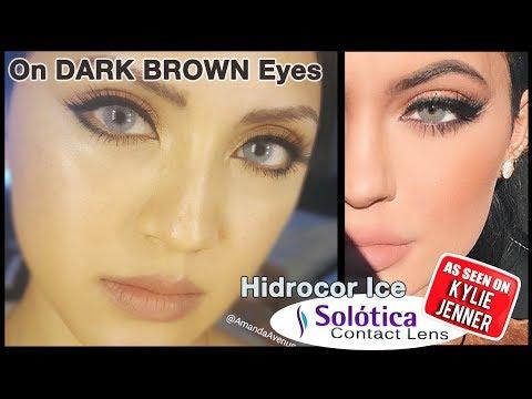 Solotica Hidrocor Ice Contact Lenses HD / Dark Asian Eyes / DISCOUNT CODE
