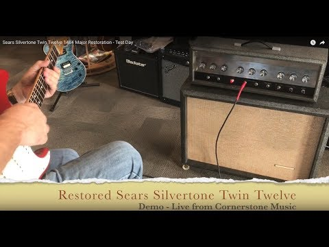 Sears Silvertone Twin Twelve 1484 Major Restoration - Demo Day