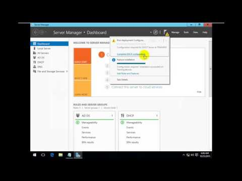 configure DHCP Server on windows server 2016