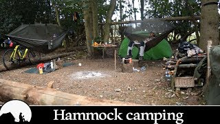 wild camping in the woods!