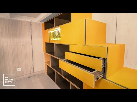 Loft Bed // Work Space : Door Fronts, Aquarium Module and Stairs - Ep. 3