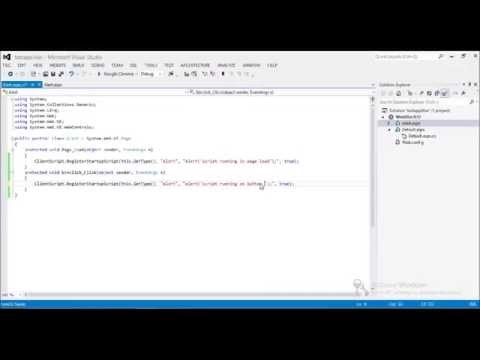 Show (Display) Alert Message Box from Code Behind in Asp net using C#, VB NET