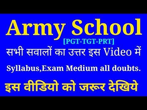 Army School Recruitment 2017-18, Army public school vacancy - Army School TGT-PGT, Full Notification