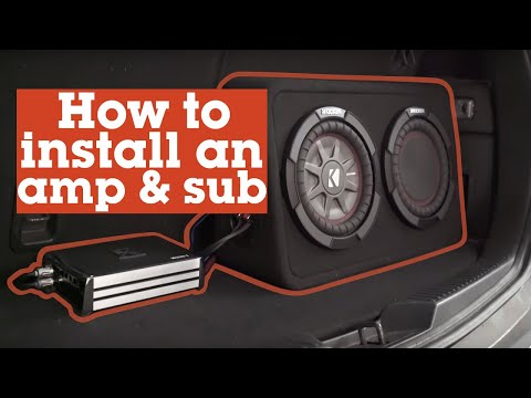How to install an amp and sub in your car | Crutchfield video