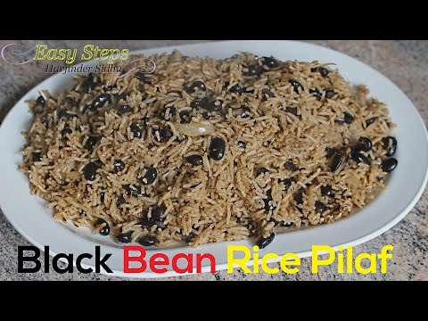 FAST RECIPE Black Beans Rice Pilau | Black Beans Rice Pilaf | Vegan Recipe