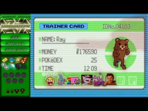 Let's Play Pokemon Emerald : Episode 39 - Fortree City Gym Badge and Meme Trainer Card 2