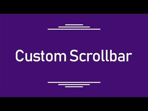 ( HTML || CSS ) Make Custom Scrollbar --- عمل سكرول بشكل يدوى