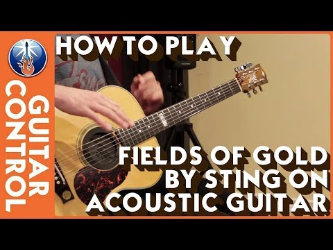 How to Play Fields of Gold by Sting on Acoustic Guitar