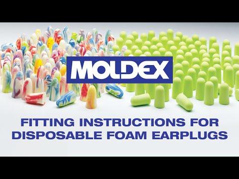 Foam Earplug Fitting Instructions
