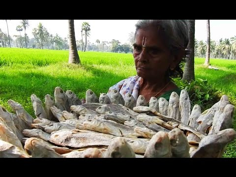 Basketful dried Fish spicy curry tasty Cooking my Grandma's | Salted dry fish spicy hot recipes