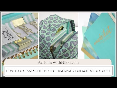 How To Organize The Perfect Backpack For School or Workbag PLUS Massive Giveaway Week
