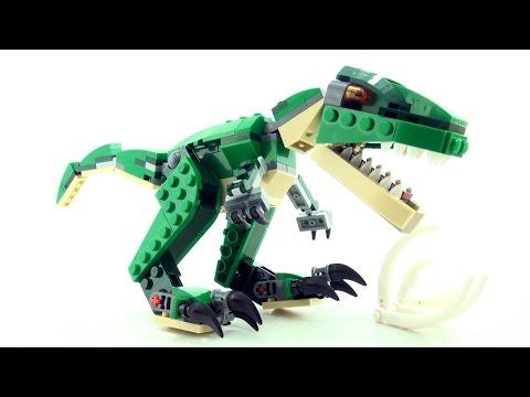 Lego Creator Tyrannosaurus Rex - T-Rex Dinosaur toys - Stop motion dinosaurs speed Build 31058