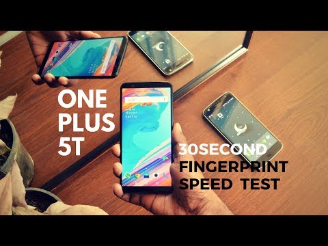 One plus 5T : 30 second fingerprint speed test