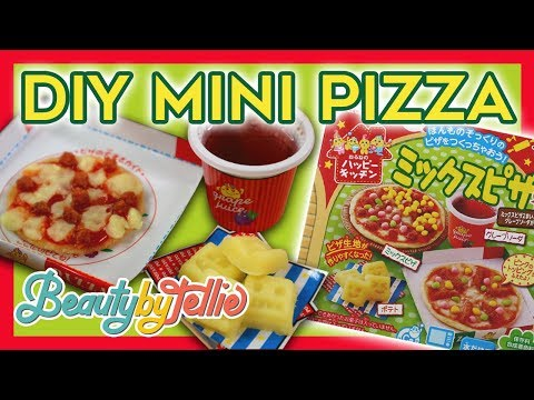 EDIBLE MINI DIY FOOD!   Kracie Popin' Cookin' Pizza   Beauty By Tellie