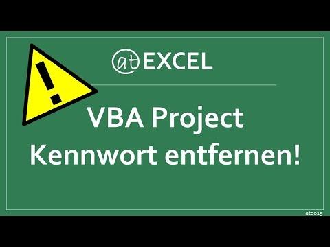 Passwort aus VBA-Project entfernen - Excel-Hinweis