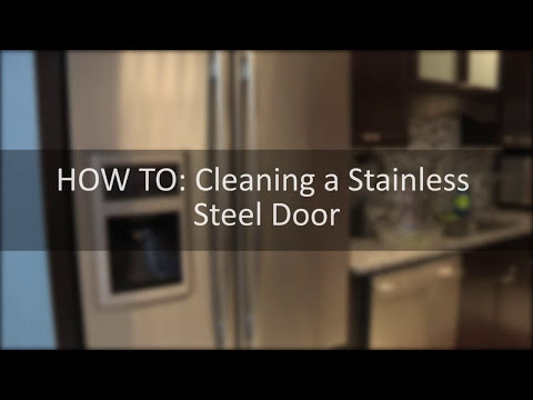 How To Clean a Stainless Steel Door, dealing with smudges and smears.