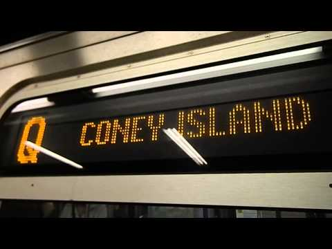 MTA New York City Subway Coney Island Bound R160A-1 (Q) Express Train @ Times Square-42nd Street