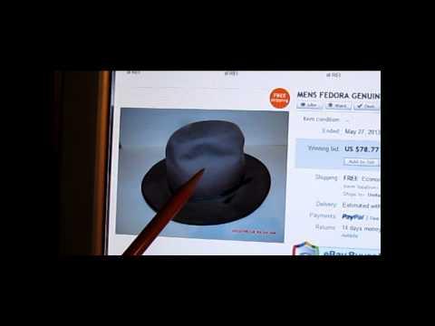 4841a9e7620 Picker Q   A  1 - Men s Vintage Hat Felt Fur Fedora - Cherry Vintage