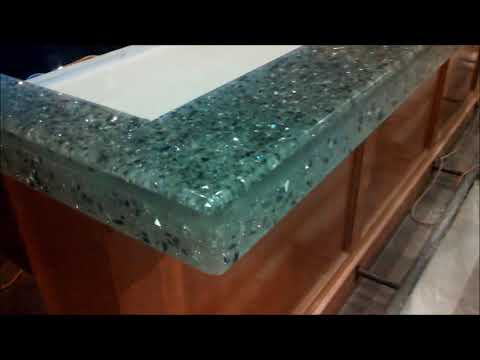 Crystal Bar Top with mirrors