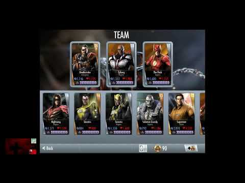 Injustice Gods Among Us iOS Farming Tips and my Roster 4-30