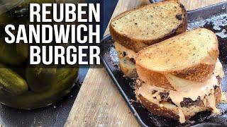 Reuben Sandwich Burger by the BBQ Pit Boys