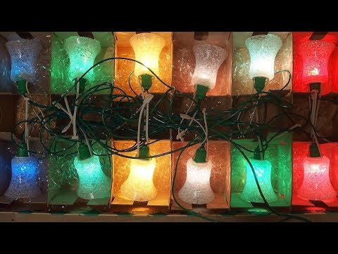 Vintage 1970s - 1980s Christmas Lights - repair and examination