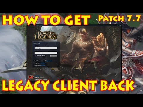 HOW TO LAUNCH LEGACY CLIENT FOR MOST REGIONS [PATCH 7.9] READ DESCRIPTION