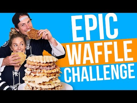 EPIC WAFFLE CHALLENGE! | Shawn + Andrew