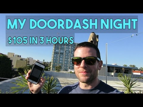 MY DOORDASH NIGHT RECAP | $105, 8 Deliveries, 28 Miles | It's All About The Tips!
