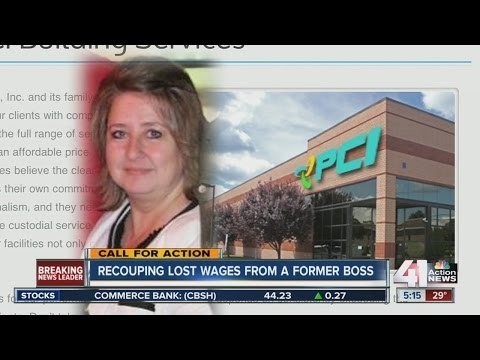 Recouping lost wages from a former employer