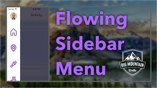 Animating A Sidebar Menu (iOS, Xcode 8, Swift 3) (Side Menu/Slide Out Menu)