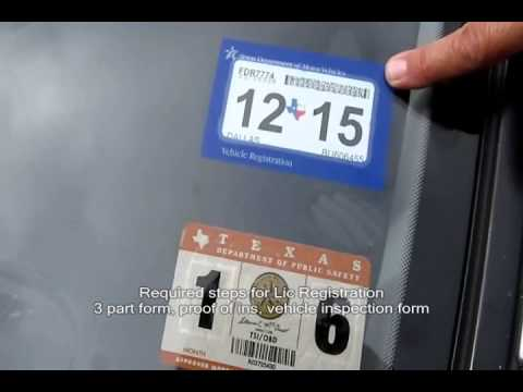 The New Single Texas  Lic PLate Registration Sticker- Auto Repair