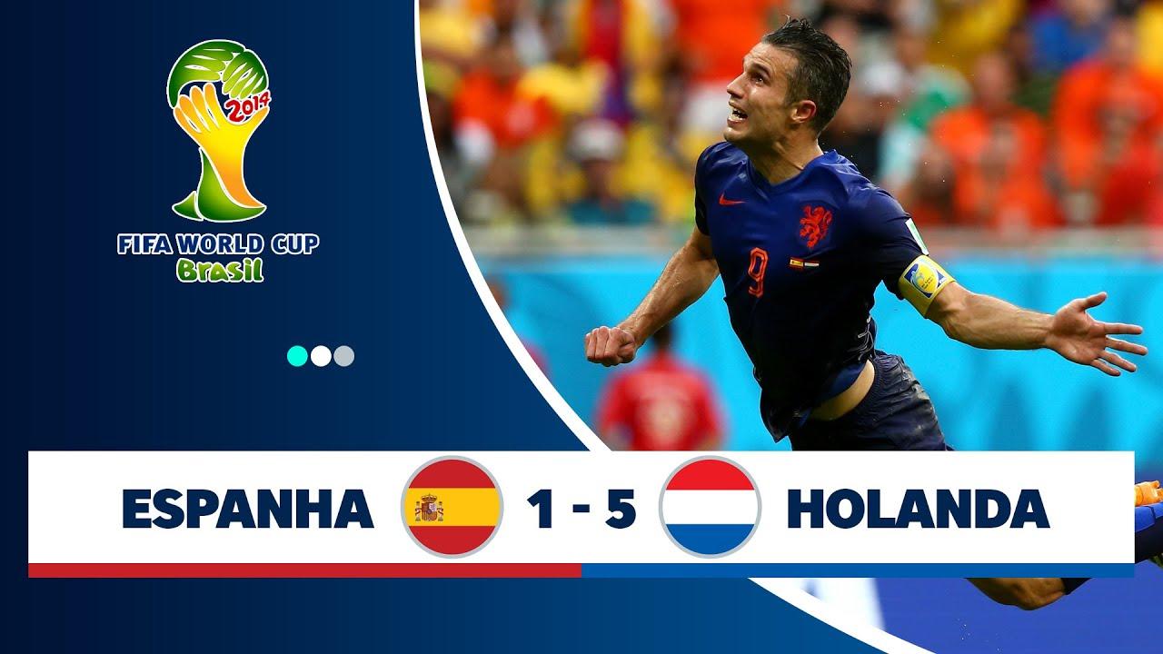 Espanha 1 x 5 Holanda - melhores momentos (GLOBO FULLHD 1080p) Copa do Mundo Brasil 2014 (13/06)