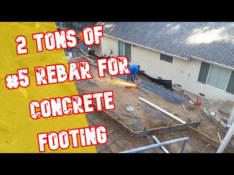 Installing Rebar for Concrete Footing - All Access 510-701-4400