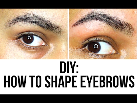 DIY: How I Shape My Eyebrows at Home (No Threading & Easy) Waxing | Thuri Makeup