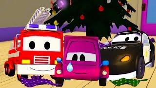 La Super Patrulla: camión de bomberos y patrulla de policía en Suzy y los regalos robados! | Navidad