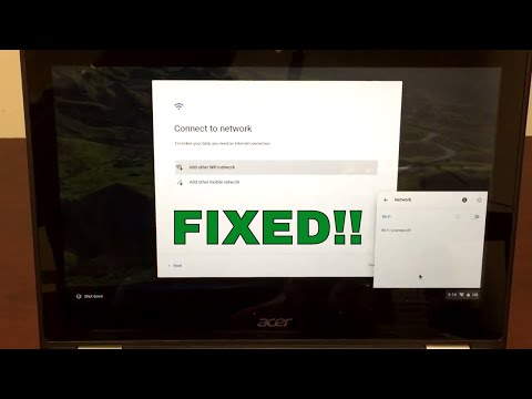 FIXED: Chromebook WiFi Turned off / disabled