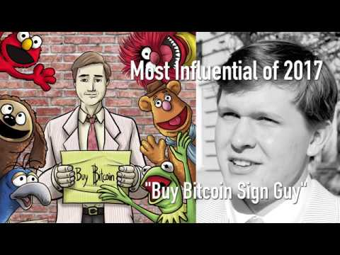 CoinDesk's Most Influential in Blockchain 2017 – Bitcoin Sign Guy