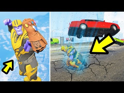 Playing as Thanos in GTA 5!