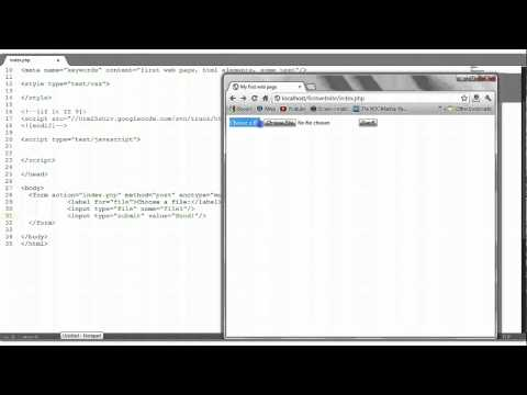 HTML Tutorial #9: File Upload Form