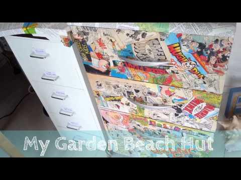 My Garden Beach Hut! New Crafty Monkey Office.