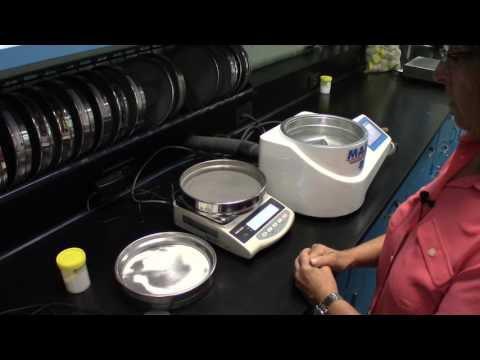 Air Jet Sieve Particle Size Analysis Test on Coffee Creamer